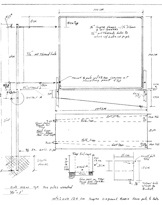 Fog Catcher Blueprint sketch